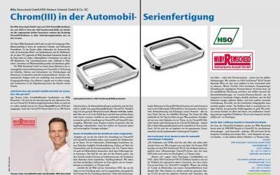 Chrom(III) in der Automobil-Serienfertigung
